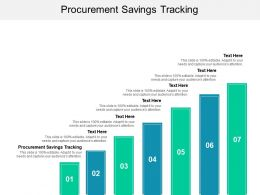 Procurement Savings Tracking Ppt Powerpoint Portfolio Elements Cpb