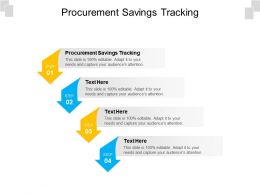 Procurement Savings Tracking Ppt Powerpoint Presentation Styles Maker Cpb