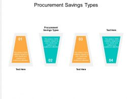 Procurement Savings Types Ppt Powerpoint Presentation Professional Example File Cpb