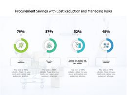 Procurement Savings With Cost Reduction And Managing Risks