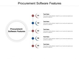 Procurement Software Features Ppt Powerpoint Presentation Outline Designs Download Cpb