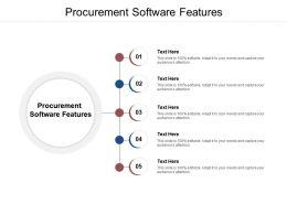 Procurement Software Features Ppt Powerpoint Presentation Outline Designs Download Cpb