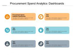 Procurement Spend Analytics Dashboards Ppt Powerpoint Presentation File Mockup Cpb