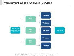 Procurement Spend Analytics Services Ppt Powerpoint Presentation Icon Picture Cpb