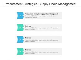 Procurement Strategies Supply Chain Management Ppt Powerpoint Presentation Model Gridlines Cpb