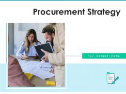 Procurement Strategy Development Optimization Document Organization Circular Arrow