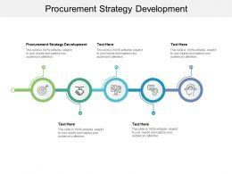 Procurement Strategy Development Ppt Powerpoint Presentation Layouts Mockup Cpb