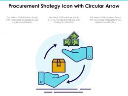 Procurement Strategy Icon With Circular Arrow