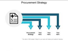 Procurement Strategy Ppt Powerpoint Presentation Icon Skills Cpb