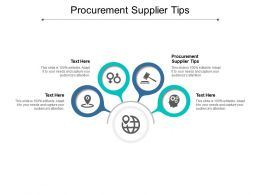 Procurement Supplier Tips Ppt Powerpoint Presentation Infographic Template Graphics Cpb