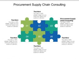 Procurement Supply Chain Consulting Ppt Powerpoint Presentation Ideas Images Cpb