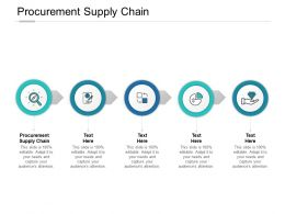 Procurement Supply Chain Ppt Powerpoint Presentation Show Layout Ideas Cpb