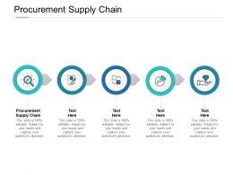 Procurement Supply Chain Ppt Powerpoint Presentation Show Layout Ideas Cpb