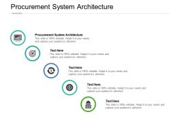 Procurement System Architecture Ppt Powerpoint Presentation Pictures Gridlines Cpb