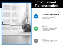 Procurement Transformation Ppt Powerpoint Presentation Icon Designs Cpb