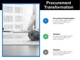 Procurement Transformation Ppt Powerpoint Presentation Icon Designs Cpb