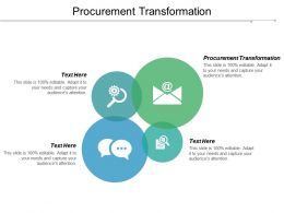 Procurement Transformation Ppt Powerpoint Presentation Pictures Example Cpb