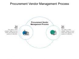 Procurement Vendor Management Process Ppt Powerpoint Outline Cpb