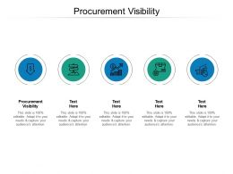 Procurement Visibility Ppt Powerpoint Presentation Layouts Template Cpb