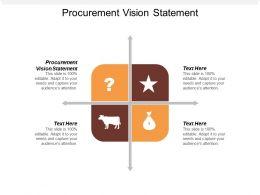 Procurement Vision Statement Ppt Powerpoint Presentation Professional Model Cpb