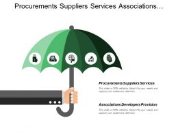 Procurements Suppliers Services Associations Developers Provision Building Corporate