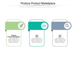 Produce Product Marketplace Ppt Powerpoint Presentation Show Themes Cpb
