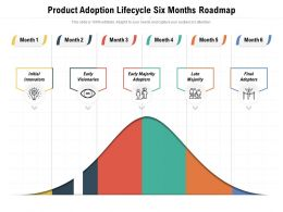 Product Adoption Lifecycle Six Months Roadmap