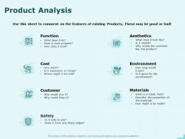 Product Analysis Environment Ppt Powerpoint Presentation Show Ideas