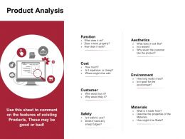 Product Analysis Environment Ppt Powerpoint Presentation Slides Graphic Images