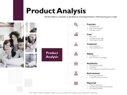 Product Analysis Function Cost Ppt Powerpoint Presentation Gallery Example
