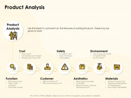 Product Analysis Materials Ppt Powerpoint Presentation Summary