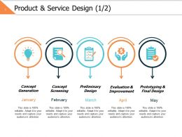 Product And Service Design 1 2 Ppt Powerpoint Presentation File Layout Ideas