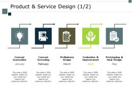 Product And Service Design Improvement Ppt Powerpoint Presentation Inspiration Gridlines