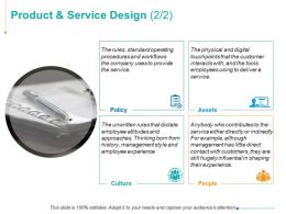 Product And Service Design Ppt Powerpoint Presentation Inspiration Designs