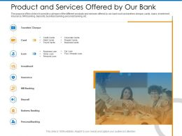 Product And Services Offered By Our Bank Home Ppt Powerpoint Presentation Infographics Icon
