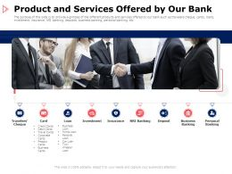 Product And Services Offered By Our Bank Insurance Ppt Powerpoint Presentation Professional