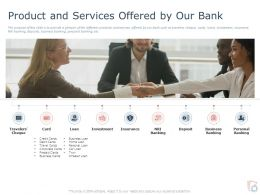 Product And Services Offered By Our Bank Ppt Powerpoint Presentation Ideas