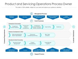 Product And Servicing Operations Process Owner