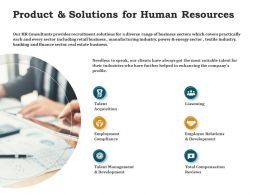 Product And Solutions For Human Resources Ppt Powerpoint Presentation Summary