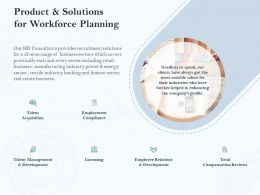 Product And Solutions For Workforce Planning Ppt Powerpoint Presentation File