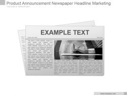 Product Announcement Newspaper Headline Marketing Powerpoint Layout