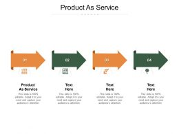Product As Service Ppt Powerpoint Presentation Summary Visuals Cpb