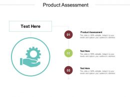 Product Assessment Ppt Powerpoint Presentation Model File Formats Cpb
