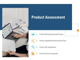 Product Assessment Unique Selling Proposition Of Product Ppt Graphics
