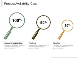 Product Availability Cost Ppt Powerpoint Presentation Icon Template Cpb