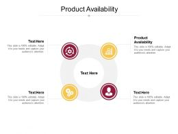 Product Availability Ppt Powerpoint Presentation Ideas Graphics Example Cpb