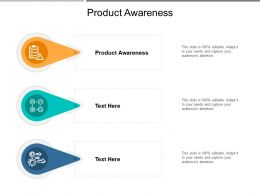 Product Awareness Ppt Powerpoint Presentation Styles Slide Cpb