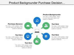 Product Backgrounder Purchase Decision Bargaining Power Suppliers Customer Market