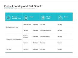 Product Backlog And Task Sprint