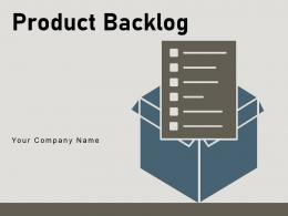 Product Backlog Process Components Planning Prioritization Organisation Framework